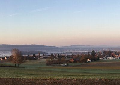 Blick übers Dorf